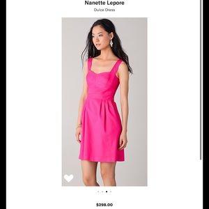Nanette Lepore Dulce pink textured dress